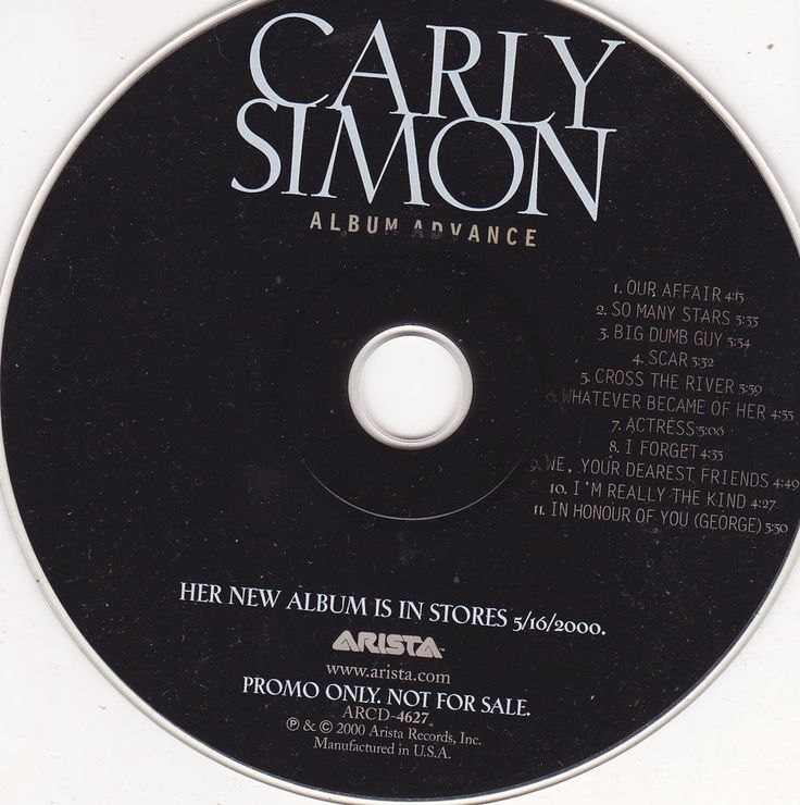 Carly Simon / Bedroom Tapes / 2000 Arista Records / Near Mint Promo CD ARCD-4627