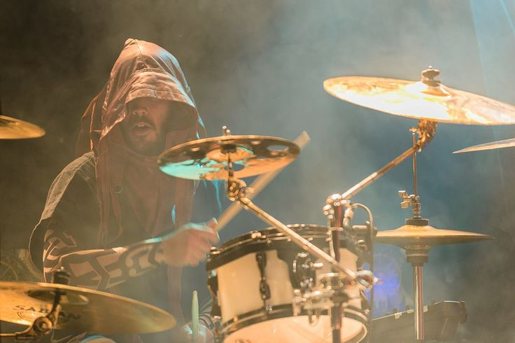 De'Azsh - Twilight Force ⚫ Photo from Byscenen FB page ⚫ Trondheim 2016 ⚫ #TwilightForce #music #metal #concert #gig #musician #DeAzsh #drums #drummer #drumstick #hood #beard #topless #performing #playing #festival #photo #fantasy #cosplay #larp #man #onstage #show #live #celebrity #band #artist #Sweden #Swedish #Trondheim #Byscenen #Norway