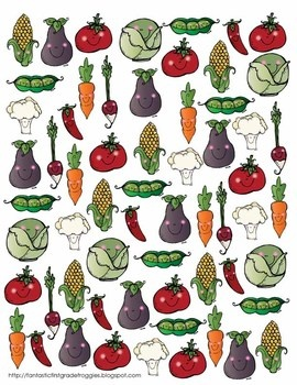 Find, Tally and Graph- Very Veggie (Vegetable)