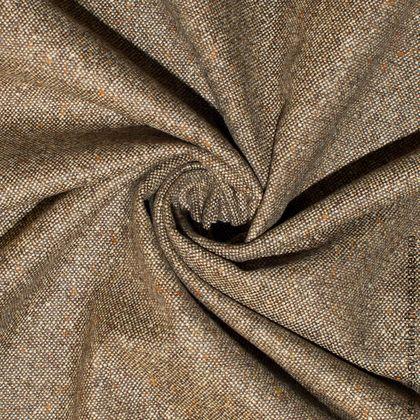Итальянская костюмная  шерсть с шелком  POLO RALF LOREN. Шерсть с  шелком  и кашемиром  имеет поверхность , похожую на настоящий харрис-твид, но на самом деле тонкая, шелковистая.  Красивое осенне сочетание золотисто-табачного и темно-оливкового цветов выглядит очень элегантно и стильно.