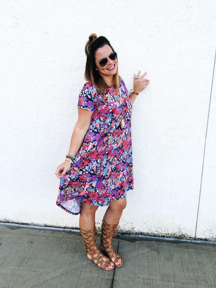 Outfit of the day. #LuLaRoe. The LuLaRoe Carly dress. #lularoecarly #lularoewww.lularoeseesters.com