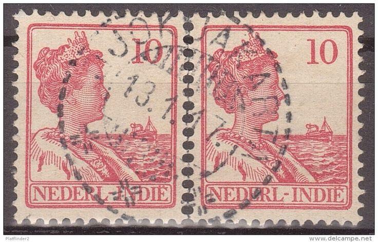 Postzegels met stempel Djokjakarta 1917.