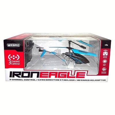 WebRC Iron Eagle Infrared Helicopter - Blue (9 inches)