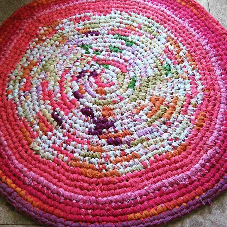 100% Old Recycled Sheets Crochet Rag Rug Alfombra Ganchillo Trapillo De  Sábanas Recicladas