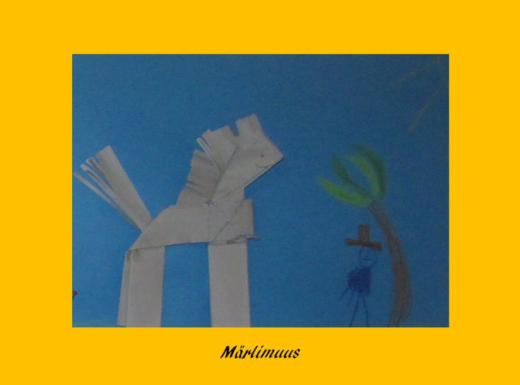 Esel falten im Kindergarten Märlimuus: Februar 2014