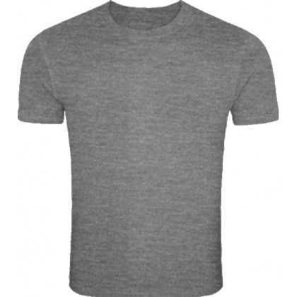 Plain Charcoal Melange Color Round Neck T Shirts For Men