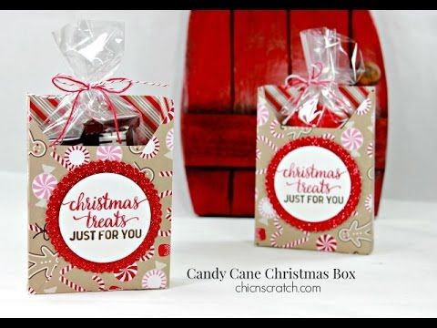 Candy Cane Christmas Box | Chic n Scratch
