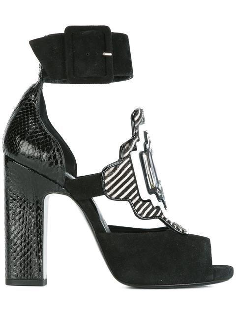 PIERRE HARDY 'Mega Gem' Sandalen Aus Pythonleder. #pierrehardy #shoes #sandals