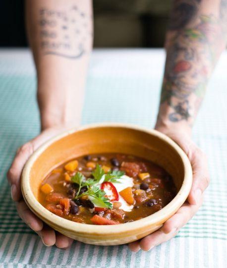 Chilli bean soup - Jack Monroe recipes