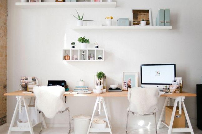 Espacio de trabajo para dos con presupuesto low cost