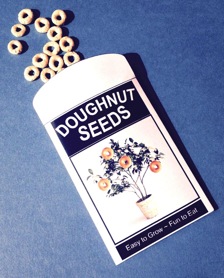 NEW and IMPROVED - April Fool's Day Doughnut Seeds Printable FREEBIE.
