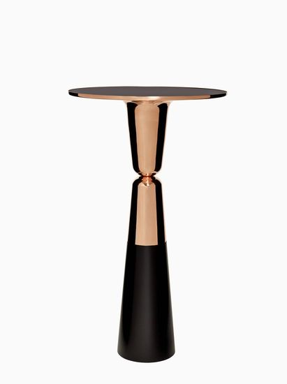 Nicolas le Moigne -  Copper High Table, 2014, Spun Copper, black lacquered metal, 85.5 x 48 x 48 /  edition of 6 plus 2 artist's proofs