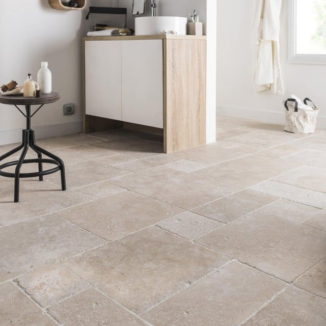 Travertin Sol Mur Intenso Effet Pierre Beige Opus Multiformat L 40 6xl 61cm En 2020 Carrelage Interieur Carrelage Travertin Travertin