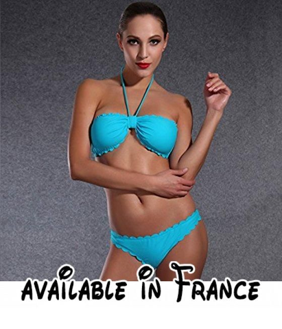 Thatch Maillot de bain pour femme Bikinis Maillots deux pièces Fashion Sexy,Blue,XL
