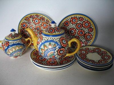 CZECH ART DECO HAND PAINTED DITMAR URBACH TEAPOT SET (05/05/2010)