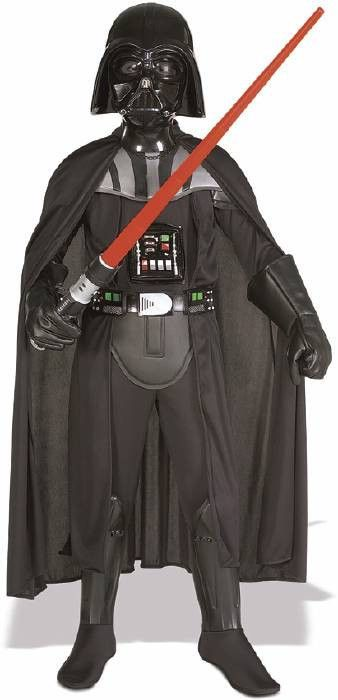 #882014 Defend the Dark Side from the force this Halloween as the Deluxe Darth Vader. The Deluxe Darth Vader Costume sports a full body, black jumpsuit with 3d molded EVA collar with separate armored
