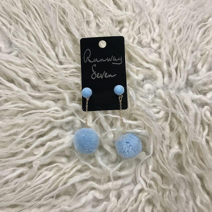 Party Starter Earrings-Light Blue