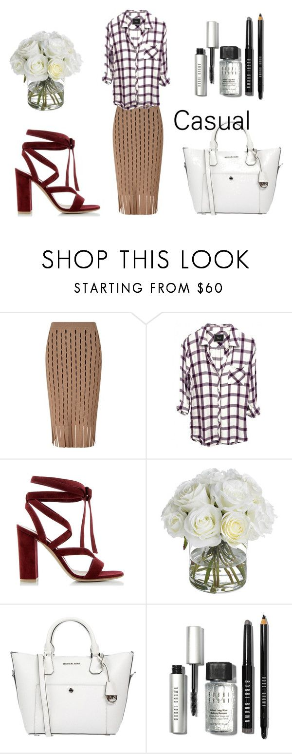 casual by slounis on Polyvore featuring moda, Alexander Wang, Gianvito Rossi, MICHAEL Michael Kors, Bobbi Brown Cosmetics, Diane James, women's clothing, women's fashion, women and female