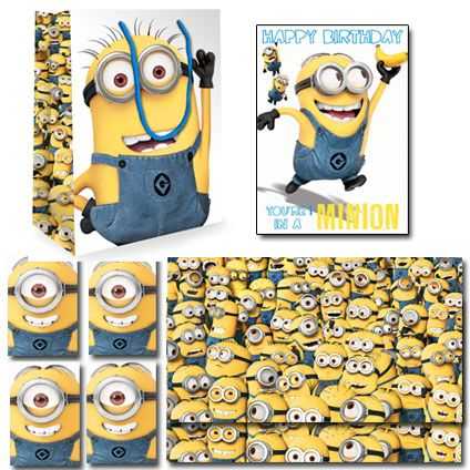 Despicable Me Official BUMPER Birthday Pack Includes; 1 x Birthday Card, 1 x Medium Sized Despicable Me gift bag, 2 x Packs of 2 sheet 2 tag wrapping paper. Only £7.99 and FREE UK Delivery. Take a closer look now at https://www.danilo.com/Shop/Cards-and-Wrap/Birthday-Packs/Despicable-Me-Birthday-Bumper-Pack