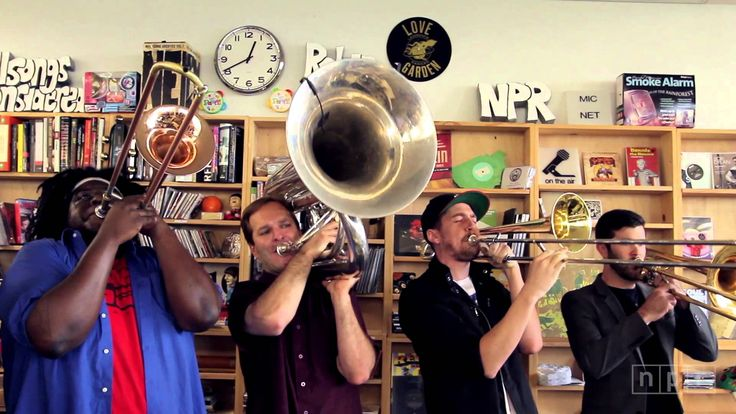 No BS! Brass Band: NPR Music Tiny Desk Concert - a little local pride here!  If you've never heard these guys, you've got to!  They are incredible!