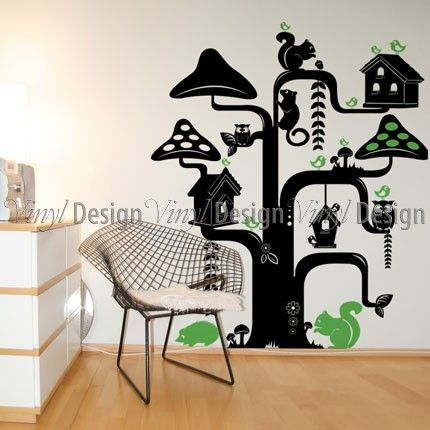 Funky Tree Wall Decal | Nature | Vinyl Wall Designs | Vinyl Design