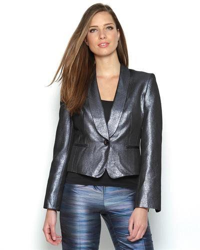 Anne Klein Metallic Blazer