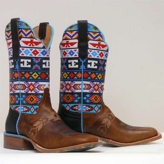 Cinch Edge ladies western boots in Beaded Aztec print http://www.tackroominc.com/cinch-edge-beaded-womans-western-boots-p-21999.html
