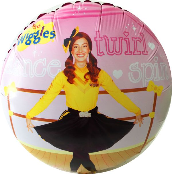 Wiggles EMMA foil balloon 45cm round Emma Wiggles Character dancing (uninflated) only AU$6.95 #emma #wigglespartysupplies #partyforkids #wigglesballoon #247partypaks #balloon