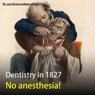 Dentistry has come a long way! : SurgeryGifs