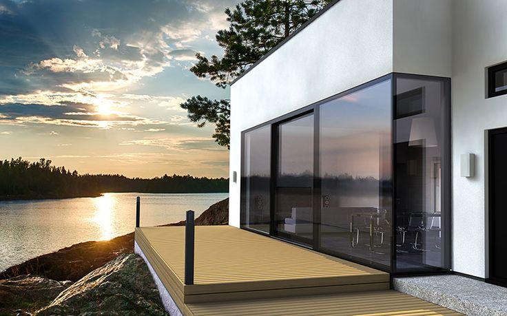 skjutparti skjutdörr profin sverige fönsterdörr altandörrar uteplats fönster skjutdörrars skjutpartier utomhus arkitektur hajom design inredning finsk finland skandinavisk design