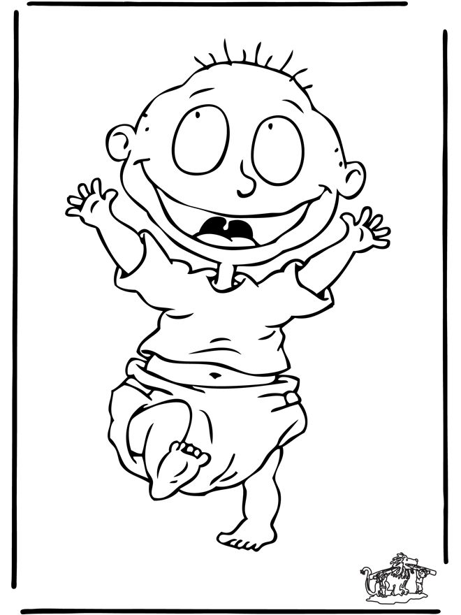 11 best coloring rugrats images on pinterest | adult coloring ... - Rugrats Characters Coloring Pages