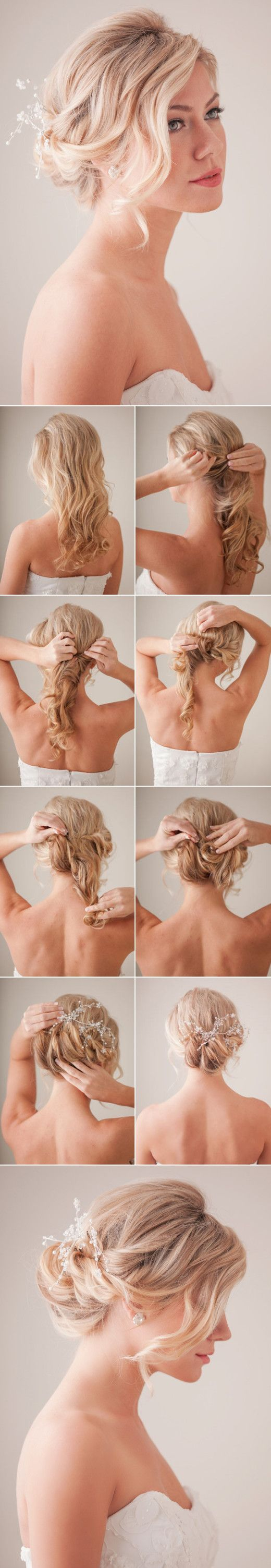 #DIY Bridal hair tutorial