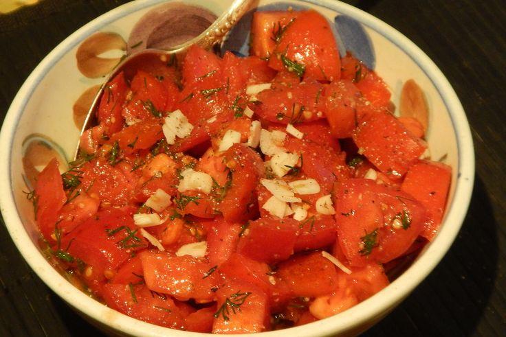 Марокканский салат с помидорами