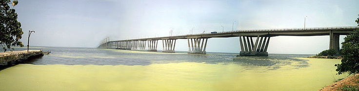 General Rafael Urdaneta Bridge - Located at the outlet of Lake Maracaibo, connecting it much of the rest of the country.