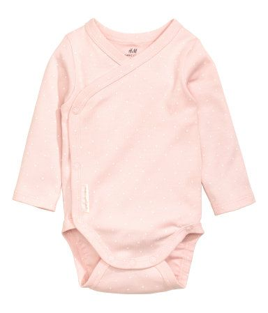 2-pack Long-sleeved Bodysuits | Light pink/dotted | Kids | H&M US