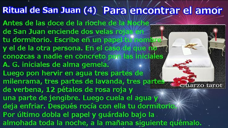 PARA ENCONTRAR EL AMOR #FelizLunes #FelizSanJuan #SanJuan #FelizDía #Sanjuaneando https://www.cuarzotarot.es/blog/posts/ritual-de-san-juan-4