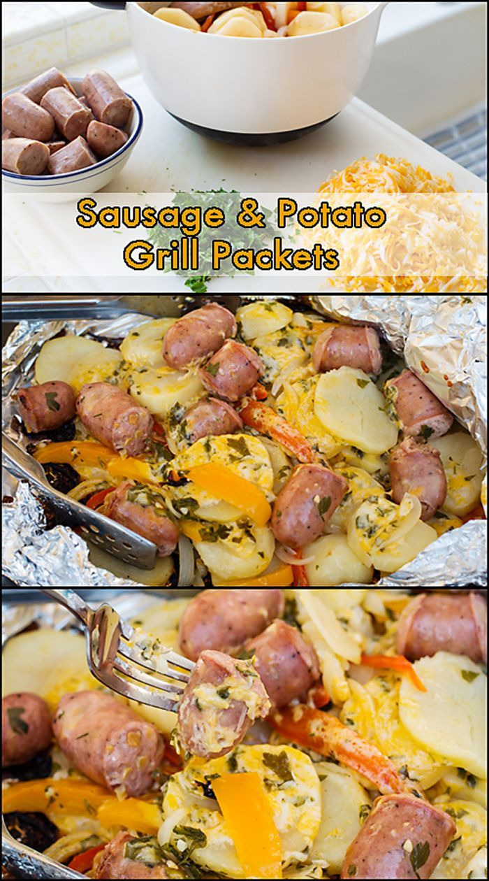 Sausage & Potato Grill Packets. Cook your one packet dinner right on your grill! www.joyineveryseason.com