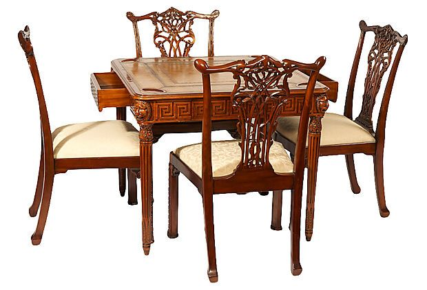 Vintage Game Table And Chairs For Sale At One Kings Lane