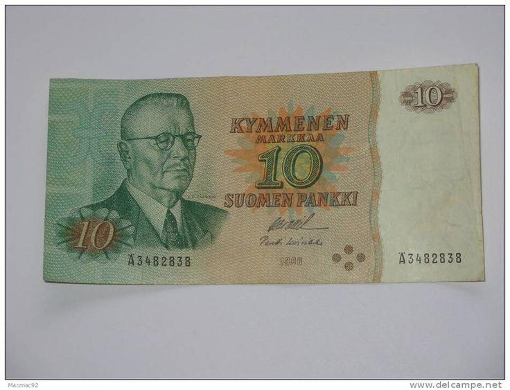 10 Kymmenen Markkaa - Suomen Pankki - FINLANDE 1980