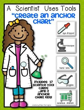 Fabulous for a variety of purposes such as games, science word walls and to build a science tools anchor chart for your classroom! This download includes 17 science tool cards (prints 6 to a page in color) and 2 Anchor Chart Science Kids (prints 8X11 in color).