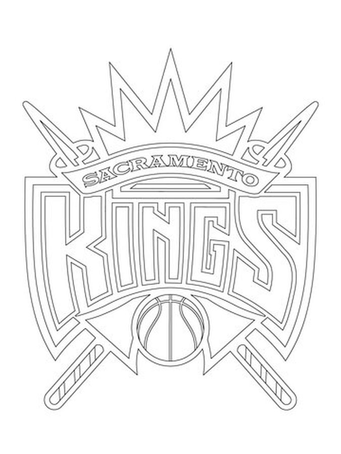 Sacramento Kings Logo Nba Coloring Pages Sports Coloring