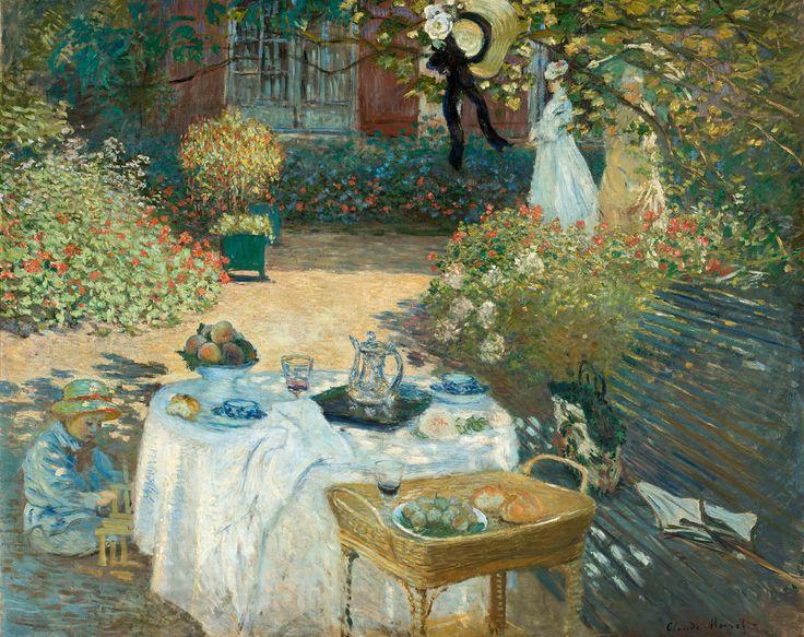 1874 (c.)-MONET-Le déjeuner, 160 x 201cm. Musée d'Orsay, Paris.