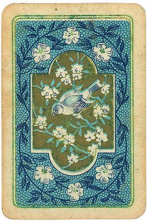 Vintage bluebird playing card, but...I think this would make a lovely card