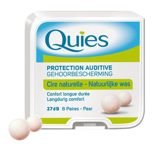 Quies wax ear plugs warm to the temperature of the body and adapt to the unique shape of your ear canal. Noise Reduction Rating of 27 decibels (Nrr 27 dB). #groupmedshop #earplugs #hearingproteciton