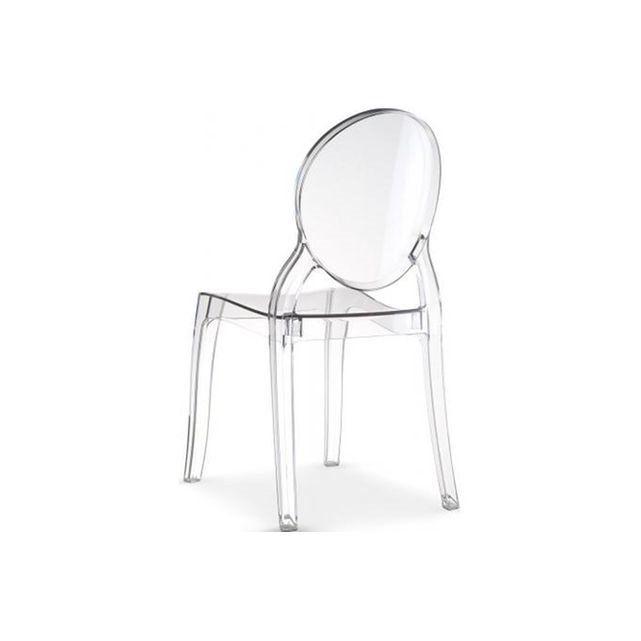 chaise mdaillon plexi transparent romantique elizabeth ...