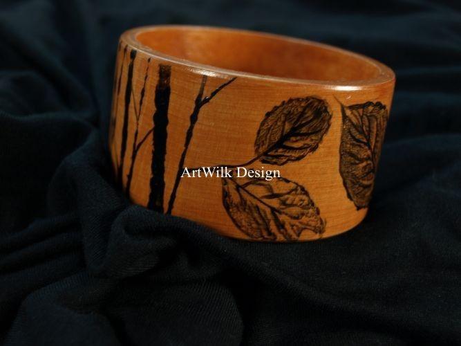 Tekana-Bransoletka ręcznie malowana - Artwilk
