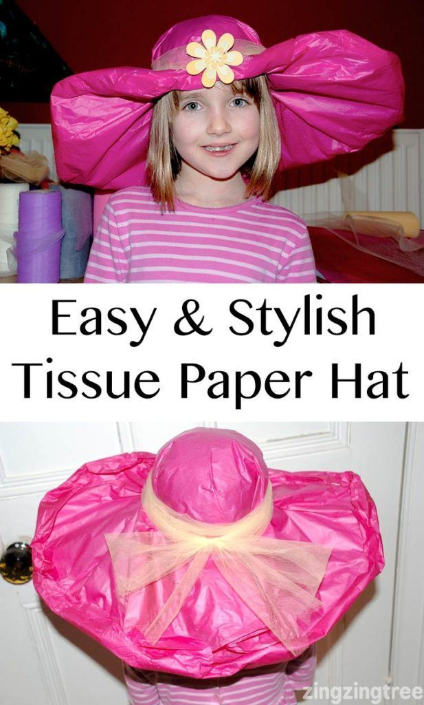 Easy & Stylish tissue paper hat