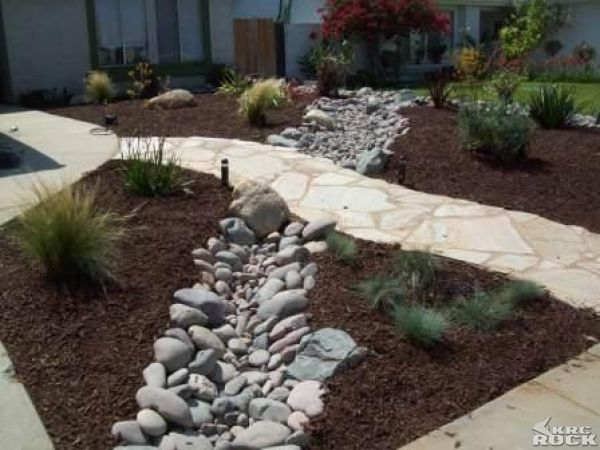 Xeriscape Dry River Bed Do This In The Front Yard Where 400 x 300