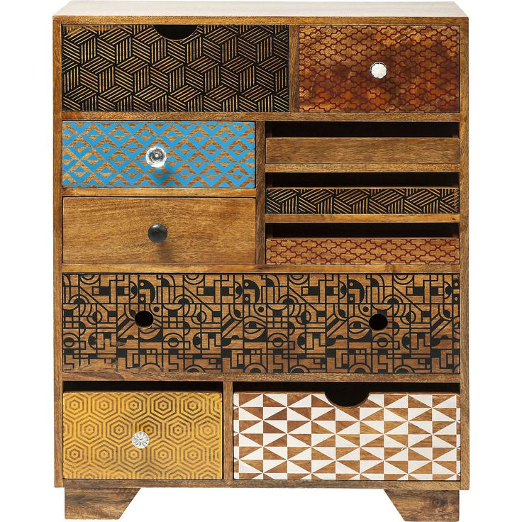 Soleil dressoir 10 lades bruin - Kare Design