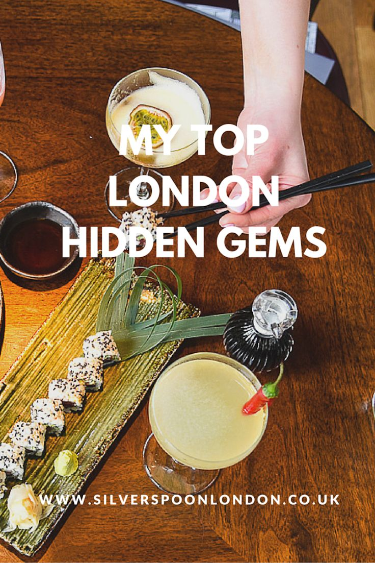 Top London Hidden Gems - sushi, brunch, afternoon tea and a whole host of delicious restaurants / Silverspoon London
